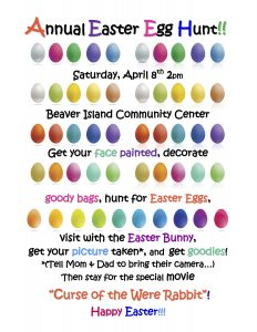 Annual Easter Egg Hunt @ Beaver Island Community Center