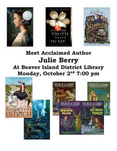 Julie Berry Author Event @ Beaver Island District Library | Beaver Island | Michigan | United States
