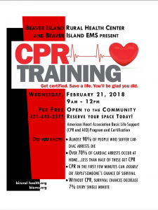 CPR Training @ Beaver Island Rural Health Center | Beaver Island | Michigan | United States
