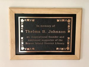 Thelma B. Johnson Fireplace Dedication @ Beaver Island District Library |  |  |